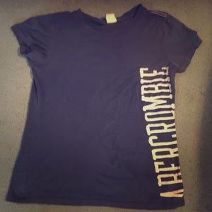 Abercrombie & Fitch navy and white top